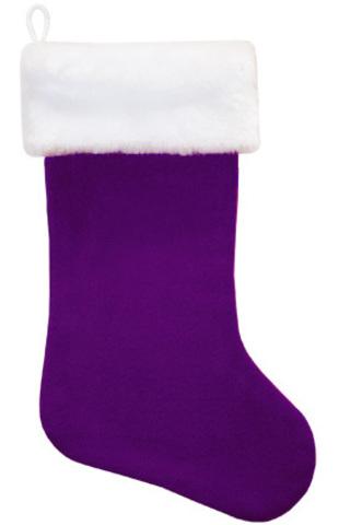 Новогодний сапожок фиолетовый