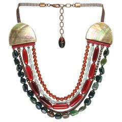 Колье Nature Bijoux RED HORN С бусинами в пять рядов