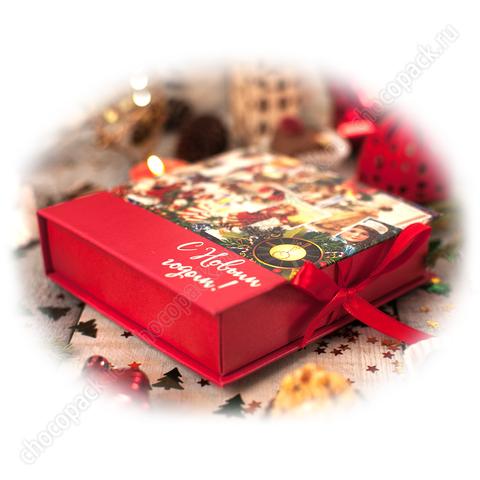 Упаковка для 9 шоколадных конфет. НГ