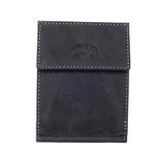 Бумажник Klondike Yukon, с зажимом для денег, черный, 12х1,5х9 см