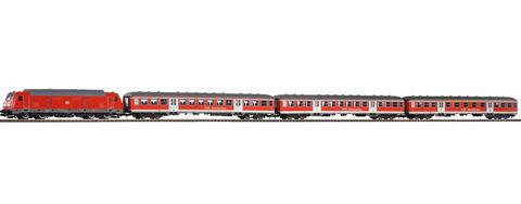 Piko 58134 Тепловоз  и пассажирские вагоны Bet BR 245 + 3 Silver Coin Cars, 1:87