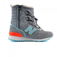 Зимние New Balance Winter Sport Gray/Mint With Fur