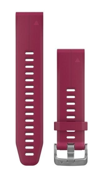 Силиконовый ремешок Garmin QuickFit 20 мм вишневый