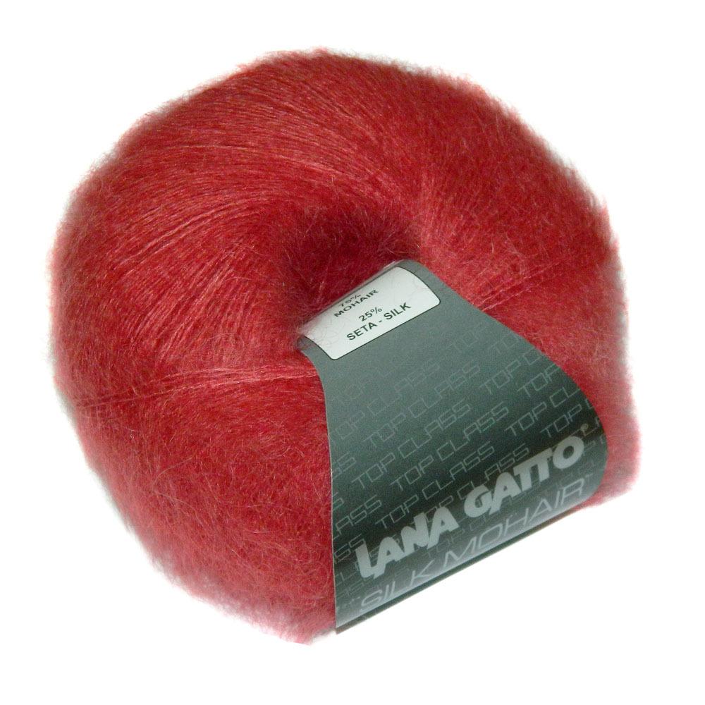 Пряжа Lana Gatto Silk Mohair 6026 темно-красный