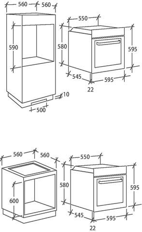 Духовой шкаф Candy FCS612N/E