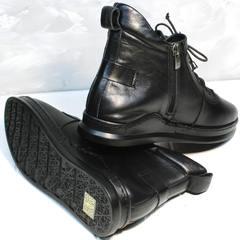 Женские осенние ботинки сникерсы Evromoda 375-1019 SA Black
