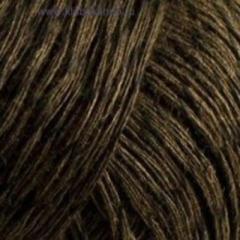 Пряжа Блестящий лен (Пехорка) коричневый 251