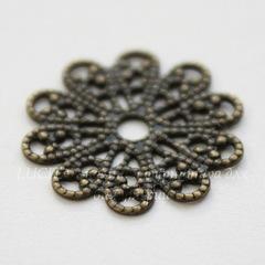 Филигрань 17 мм (цвет - античная бронза)