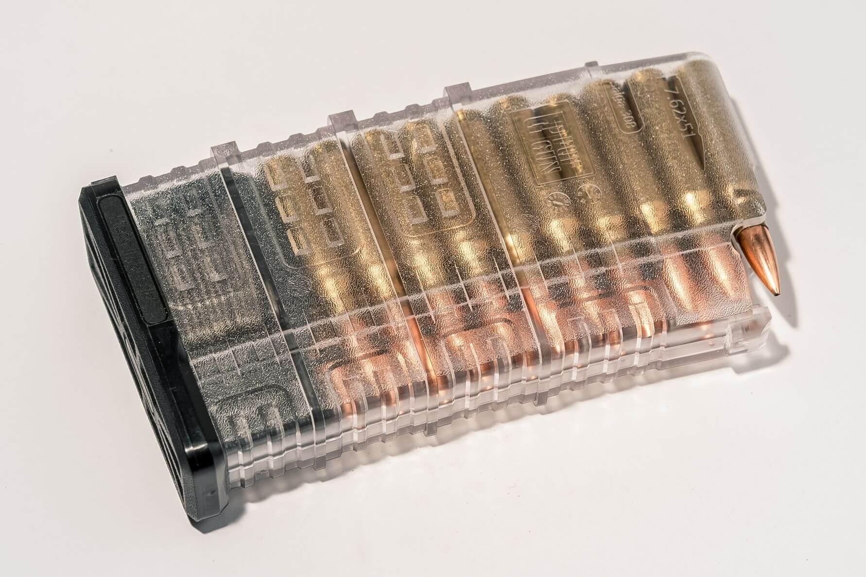 Магазин Pufgun Сайга-308 на 20 патронов, прозрачный