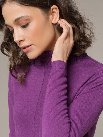 Женский джемпер лилового цвета из шерсти и шелка - фото 2