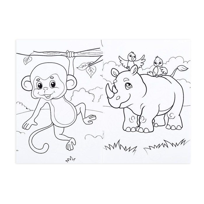 064 3072 раскраска с карандашами животные жарких стран 16