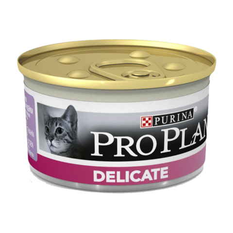 Purina Pro Plan Delicate Консервы для кошек с чувствительным пищеварением с Индейкой