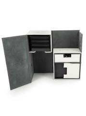 Ultimate Guard - Двойная кожаная белая коробочка с отделением для кубиков