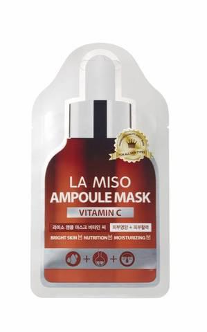 Отбеливающая ампульная маска с витамином С La Miso