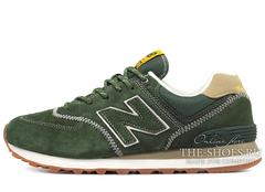 Кроссовки Мужские New Balance 574 Premium Suede Green