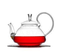 Чайник заварочный стеклянный, Георгин, 1200 мл