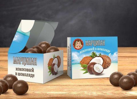 Марципан Кокосовый в Шоколаде, 100 г