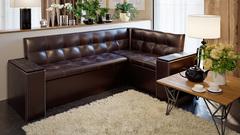 Скамья угловая со спальным местом «Остин»  Венге цаво, К/з коричневый