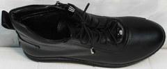 Высокие кожаные кеды женские Evromoda 375-1019 SA Black