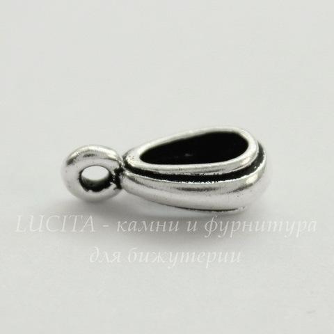 "Бейл TierraCast ""Nouveau"" 13х4 мм (цвет-античное серебро)"