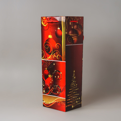 Пакет бум./ламинир. новогодний под бутылку 422