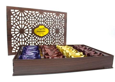Ассорти пишмание в подарочной деревянной упаковке, Hajabdollah, 500 г