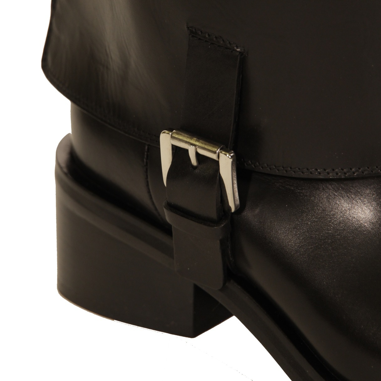 Сапоги кожаные. Цвет черный/серый COSTUME NATIONAL