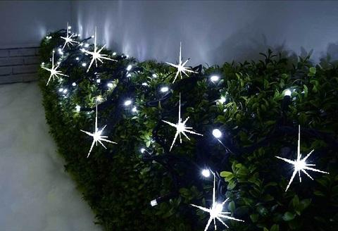 Каучуковая гирлянда на деревья уличная нить лед новогодняя светодиодная