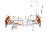 Кровать медицинская функциональная КФ-3 премиум