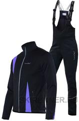Детский утеплённый лыжный костюм Nordski Active Black-Violet