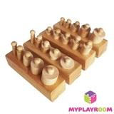 Блоки с цилиндрами-вкладышами для малышей 1