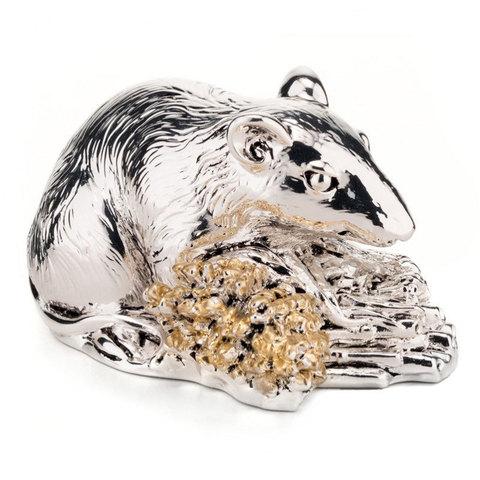 Серебряная Крыса с колосьями - Символ 2020 года