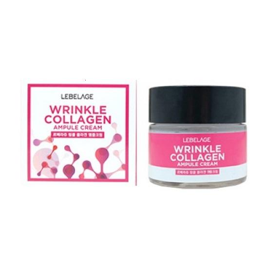 Крем ампульный для лица с коллагеном против морщин Lebelage Ampule Cream Wrinkle Collagen 70мл