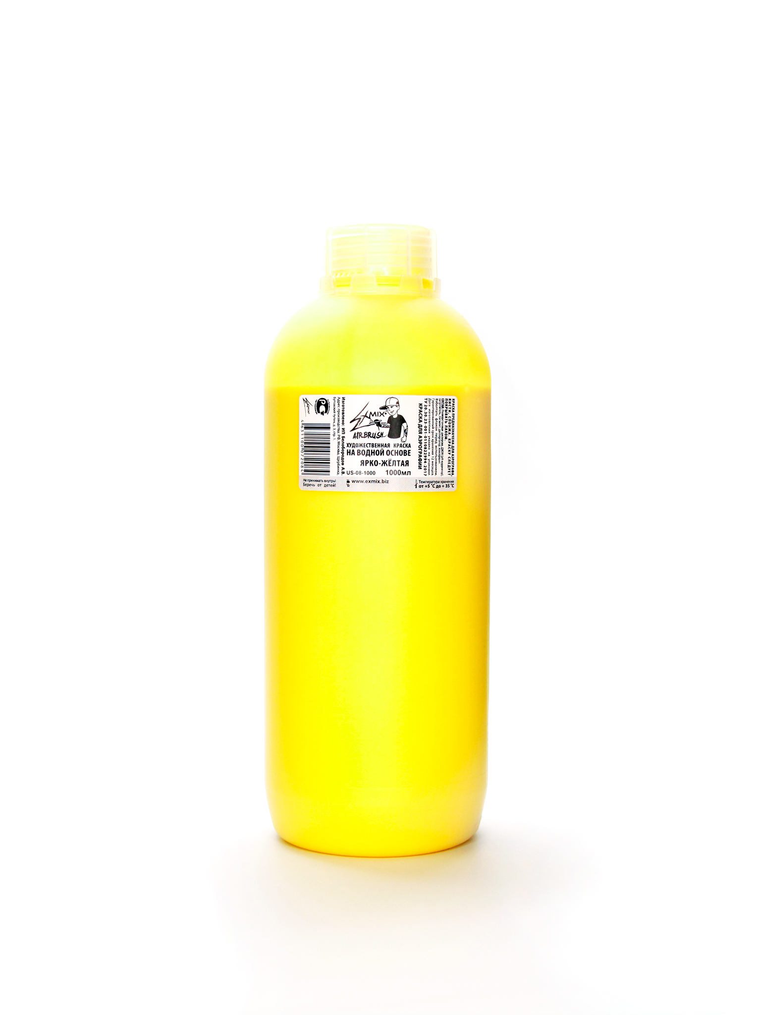 Exmix Краска укрывистая Exmix 08 Желтая (холодный) 1000 мл US-08-1000.jpg