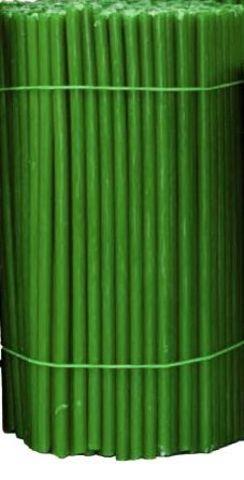 Свечи №100 восковые, зеленые