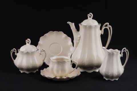 Сервиз чайный 15 предметов Виктория Leander слоновая кость