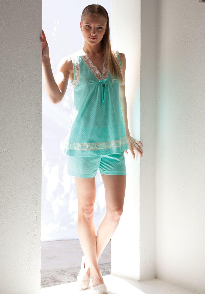 Женская пижама без рукавов Rebecca & Bros