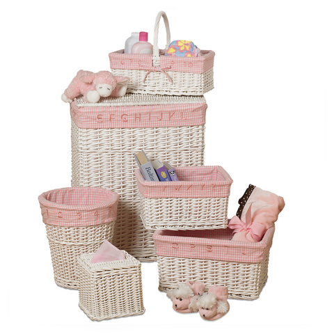 Набор корзин 6 шт Creative Bath Baby's Learn & Store Collection розовый
