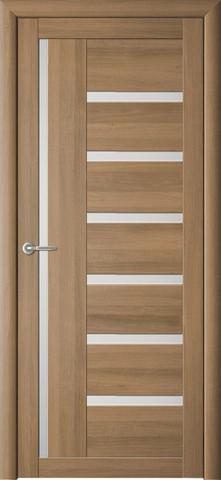 Дверь Фрегат ALBERO Мадрид, стекло матовое, цвет кипарис янтарный, остекленная