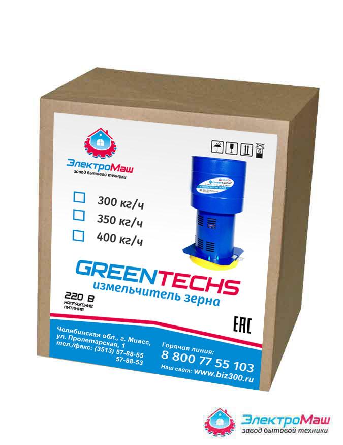 Зернодробилка Greentechs, роторная, 300 кг/ч