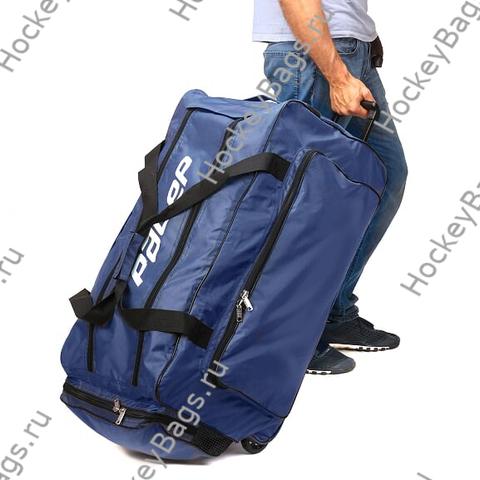 Хоккейный баул 76х45х39 см, синий, на колесах