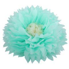 Бумажный цветок 50/23 см мятный+бежевый