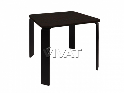 Стол обеденный квадратный Scandi Черное дерево