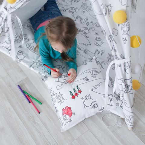 Подушка Painter юный художник (под раскраску)