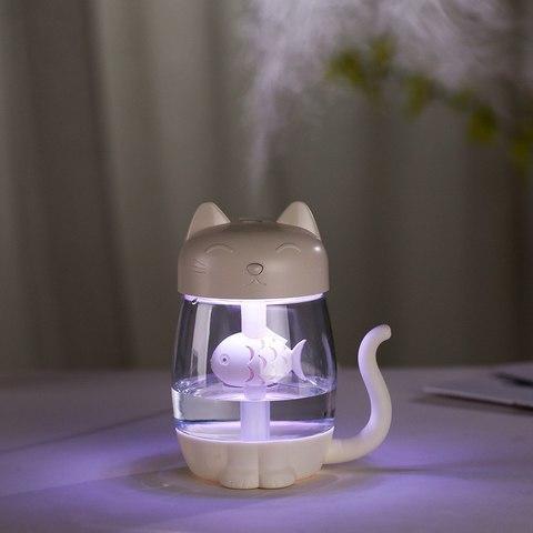 Лампа-увлажнитель воздуха в форме кошечки