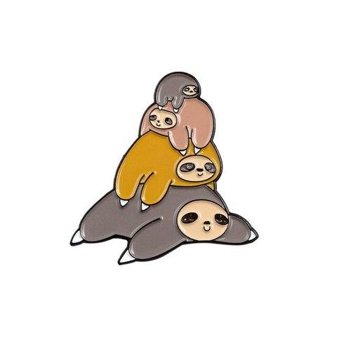 Значок, пин - Ленивые ленивцы