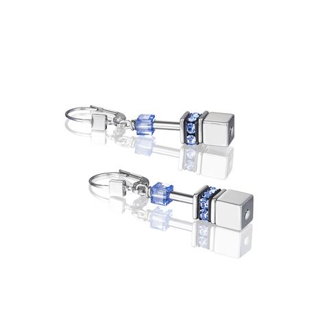 Серьги Coeur de Lion *4015/20-0705 цвет серебряный, голубой, серый