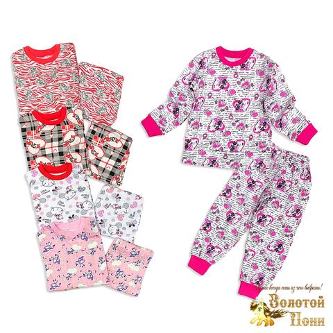 Пижама хлопок девочке (3-7) 200201-W444