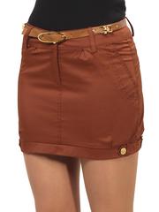 2070-2 юбка темно-коричневая