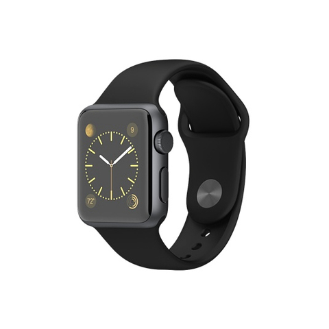 Apple Watch Sport Space Gray Aluminum Case with Black Sport Band